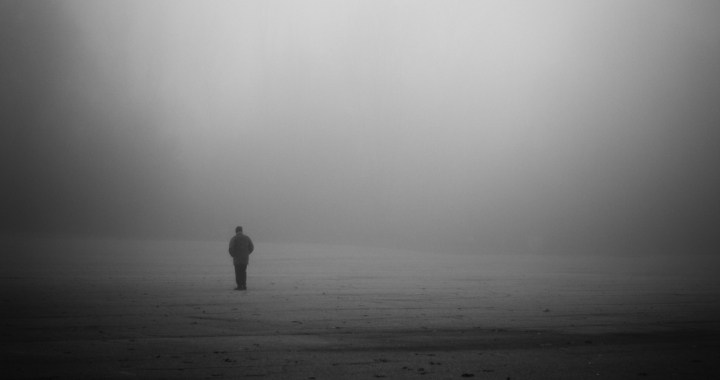 man-alone-gray-fog