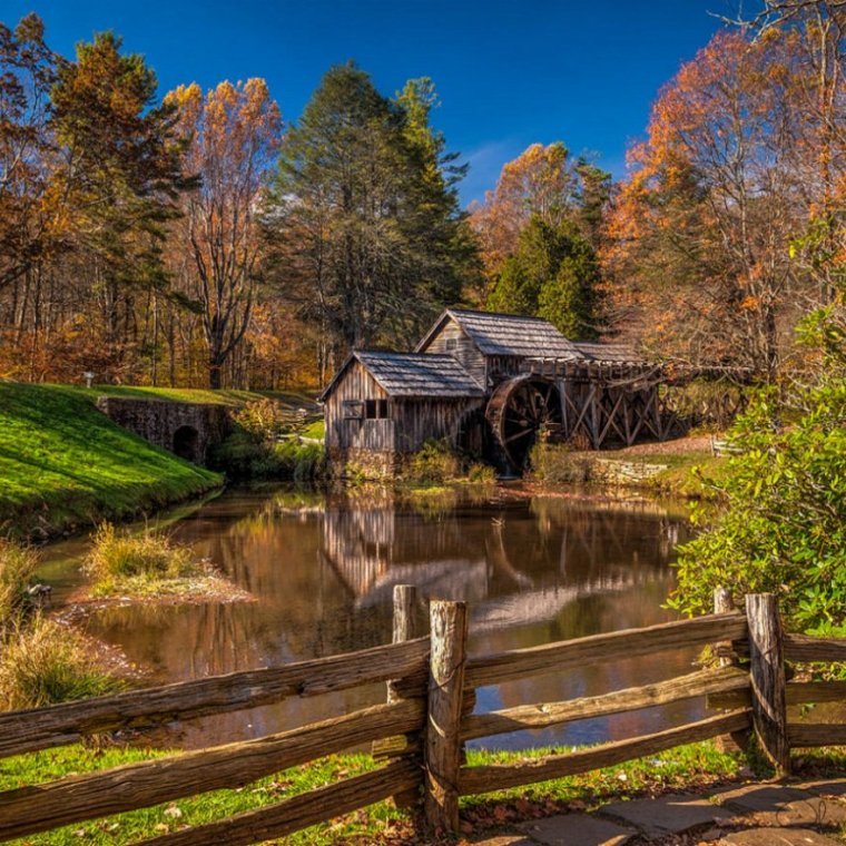 mill-wheel-woods-fall
